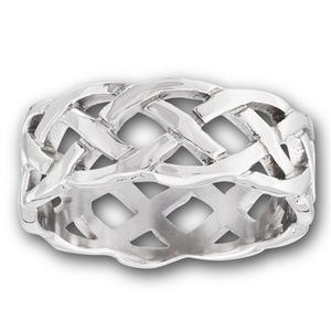 Jewelry - Stainless Steel Wide Celtic Woven Unisex Band 10mm